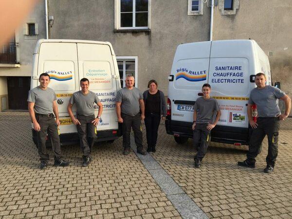 Régis Hallet à Mésanger, notre équipe de plombiers, chauffagistes et éléctriciens